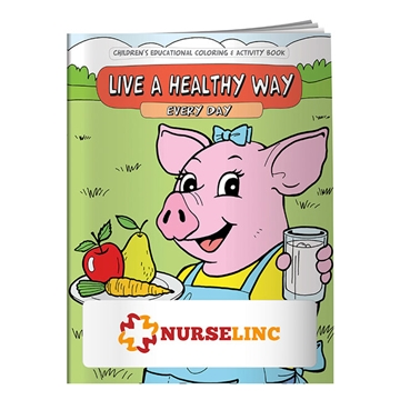 Promotional Coloring Book Live a Healthy Way Every Day