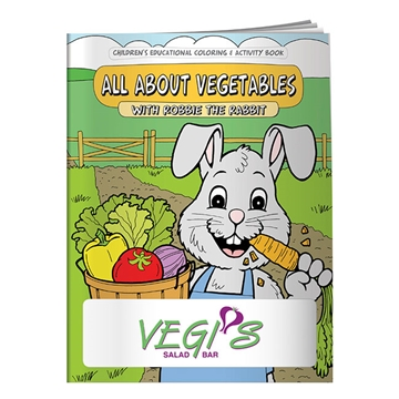 Promotional Coloring Book All About Vegetables