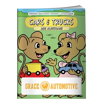 Promotional Coloring Book Cars Trucks
