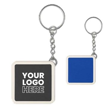 Promotional Square Tape Measure Key Tag