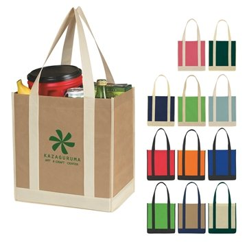 Promotional Non - Woven Two - tone Shopper Tote Bag
