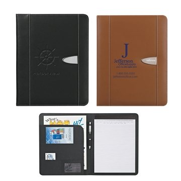 Promotional Eclipse Bonded Leather 8 X 11 Portfolio
