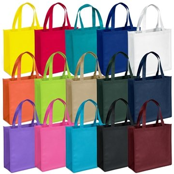 Promotional Non Woven Screen Print Multi Color Abe Tote Bag 13 X 13