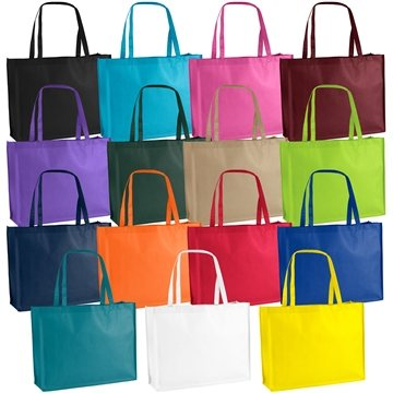 Promotional Non Woven Color Vista Multi Color George Tote Bag 20 X 16