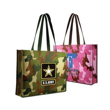Promotional Non - Woven Camo Tote Bag, Full Color Digital