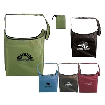 Promotional RPET Fold - Away Sling Bag