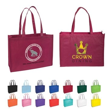 Promotional Custom Non Woven Standard Tote Bag 16 X 12