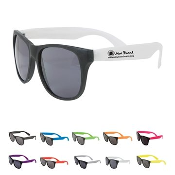 Promotional Multi Color Two Tone Matte Sunglasses