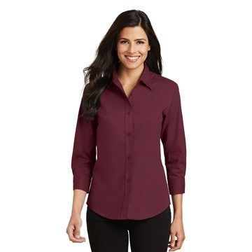 Promotional Port Authority Ladies 3/4- Sleeve Easy Care Shirt