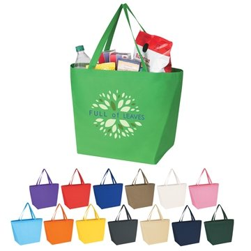 Promotional Non - Woven Budget Shopper Tote Bag 20 X 13