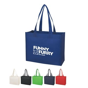 Promotional Matte Laminated Non - Woven Shopper Tote