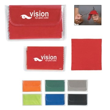 Promotional Microfiber Custom Cleaning Cloth With Case