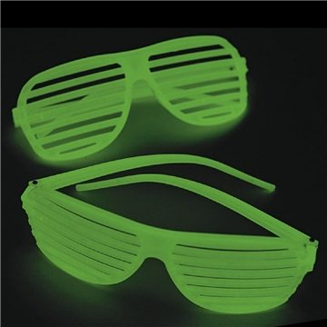 Promotional glow-shutter-shades