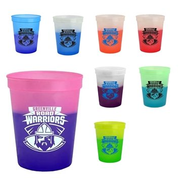 Promotional 16 oz Cups On The Go Cool Color Changing Mood Cup