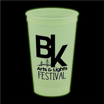 Promotional 20 oz Glow In The Dark Stadium Cups