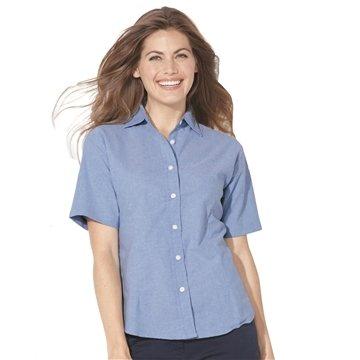 Promotional FeatherLite(R) Ladies Short Sleeve Oxford Shirt
