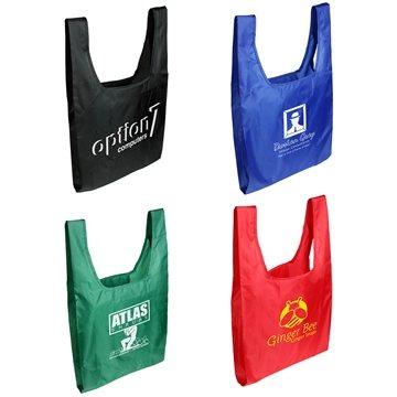 Promotional tide-twister-folding-tote-bag