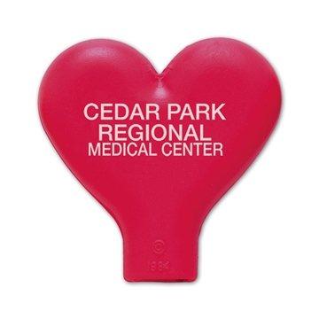 Promotional Heart Imprintable Eraser 1 1/4 L x 1 1/2 H