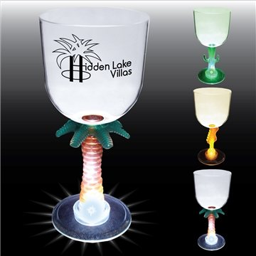 Promotional 14 oz Lighted Novelty Stem Goblet