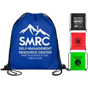 Promotional 80GSM Non - Woven Economy Drawstring Cinch Pack