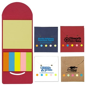 Promotional RecycLED Sticky Notes And Flags Booklet