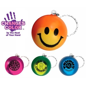 Promotional Mood Smiley Face Stress Key Chain