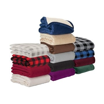 Promotional Micro Mink Sherpa Blanket