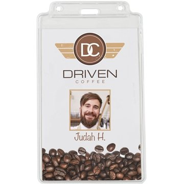 Promotional 6-1/2 X 4 Vinyl Badge Pouch - Blank