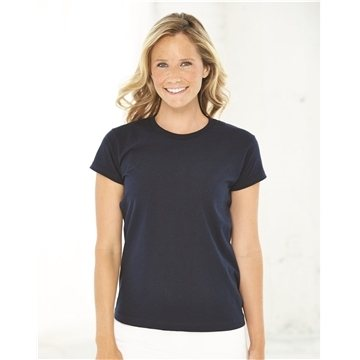 Promotional Bayside - Ladies USA Made Short Sleeve Shirt
