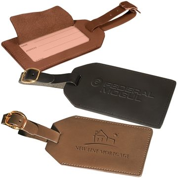 Promotional Grand Central Luggage Tag (Sueded Full - Grain Leather)