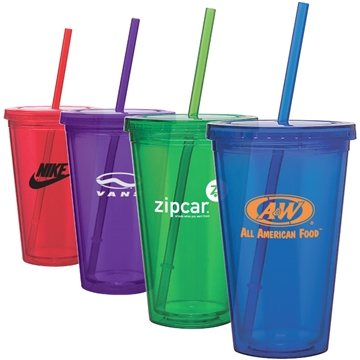 Promotional Clearwater Colors - 16 oz Acrylic Tumbler