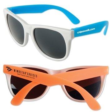 Promotional Neon Sunglasses - White Frame