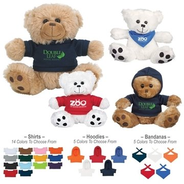 Promotional Plush Big Paw Bear With Shirt