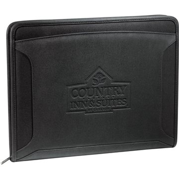 Promotional Case Logic Conversion Zippered Tech Padfolio