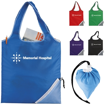 Promotional Fold - Up Cinch Corner Tote