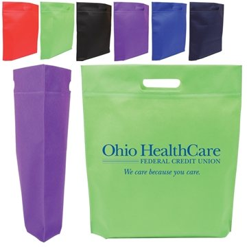 Promotional Die Cut Handle Tradeshow Nonwoven Tote
