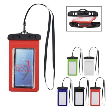 Promotional neoprene-portable-electronics-case-with-carabiner