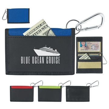 Promotional velcro-wallet-with-carabiner