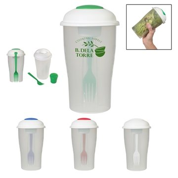 Promotional 3 Piece Bpa Free Salad Shaker Set With Multiple Color Choices