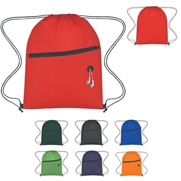Promotional Non - Woven Hit Sports Pack With Front Zipper