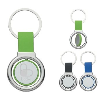 Promotional Circular Metal Spinner Key Tag