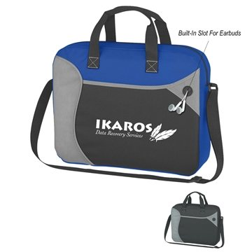 Promotional Wave Briefcase / Messenger Bag