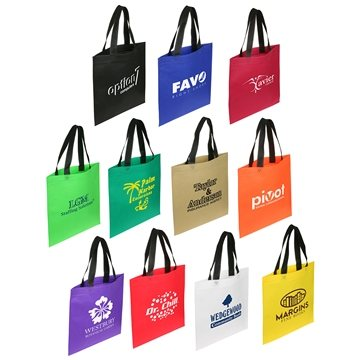 Promotional Non Woven Multi Color Recycle Portrait Shopping Bag 13.5 X 14