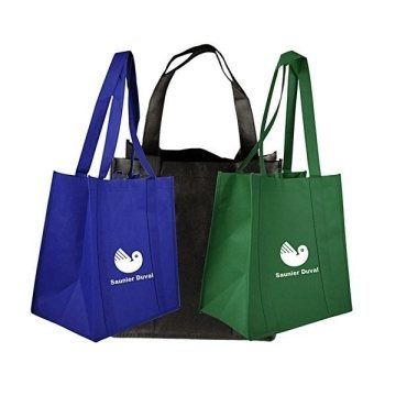 Promotional Non Woven Screen Printed Multi Color Tote Bag