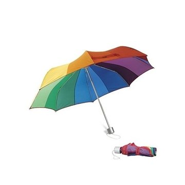Promotional MoMA Color Spectrum Wheel Collapsible Umbrella