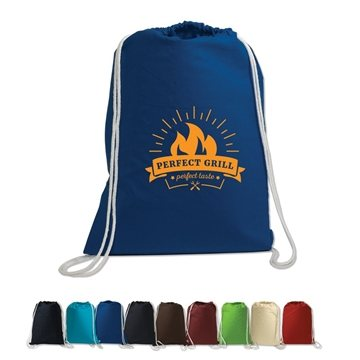 Promotional Cotton String - A - Sling Backpack 5 Oz. Cotton