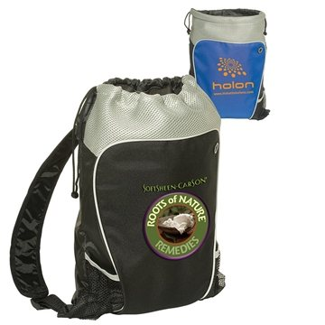 Promotional Hikers Two - Tone Drawstring Backpack