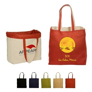 Promotional Reversible Jute / Cotton Tote