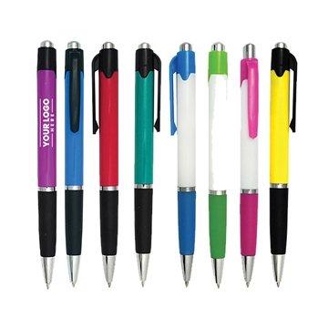 Promotional Carniva Chrome Tip Click Ballpoint Pen