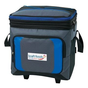 Promotional 36 Can Roller Cooler w / Storage